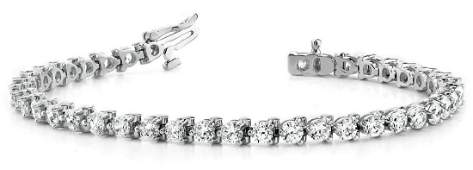 6 Carat Diamond Engagement 14K White Gold Bracelet