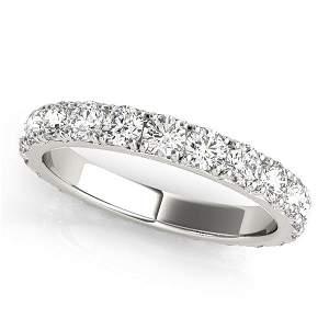 0.54 Carat Diamond Engagement 14K White Gold Eternity