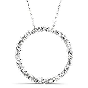 2.97 Carat Diamond Engagement 14K White Gold Circle