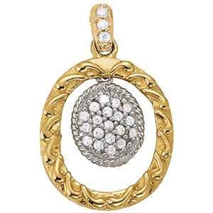 0.11 Carat Diamond Engagement 14K White Gold Pendant