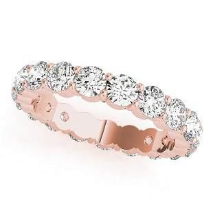 1.90 Carat Diamond Engagement 14K Rose Gold Eternity