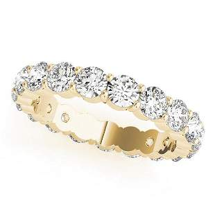 7 Carat Diamond Engagement 14K Yellow Gold Eternity