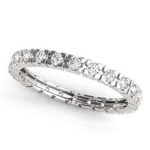 0.52 Carat Diamond Engagement 14K White Gold Eternity