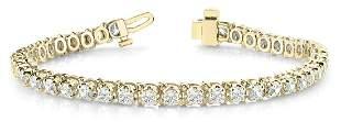 0.73 Carat Diamond Engagement 14K Yellow Gold Bracelet