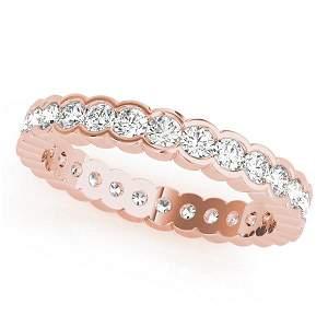 0.96 Carat Diamond Engagement 14K Rose Gold Eternity
