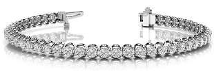 7.92 Carat Diamond Engagement 14K White Gold Bracelet