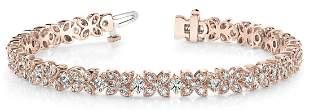 4.16 Carat Diamond Engagement 14K Rose Gold Bracelet