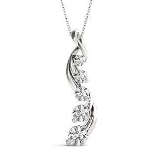 3.05 Carat Diamond Engagement 14K White Gold Journey