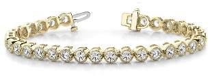 3.76 Carat Diamond Engagement 14K Yellow Gold Bracelet