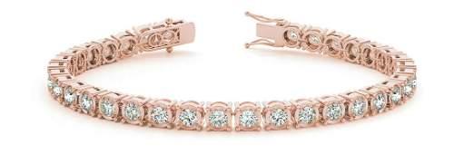 5.75 Carat Diamond Engagement 14K Rose Gold Bracelet