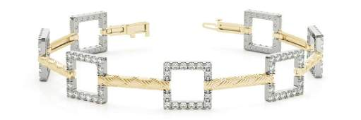 1.12 Carat Diamond Engagement 14K Yellow Gold Bracelet