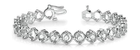 0.33 Carat Diamond Engagement 14K White Gold Bracelet