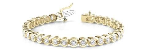 2.90 Carat Diamond Engagement 14K Yellow Gold Bracelet