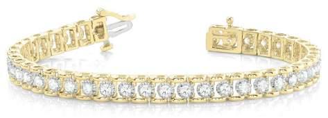 2 Carat Diamond Engagement 14K Yellow Gold Bracelet