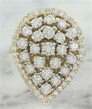 2.41 CTW Diamond 14K Yellow Gold Ring