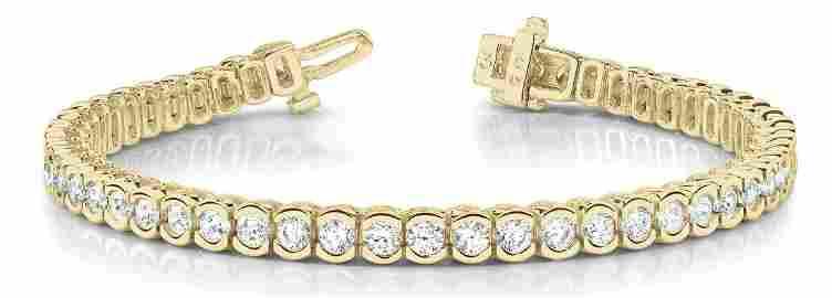 12.6 Carat Diamond Engagement 14K Yellow Gold Bracelet