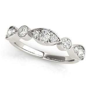 0.42 Carat Diamond Engagement 14K White Gold Stackable