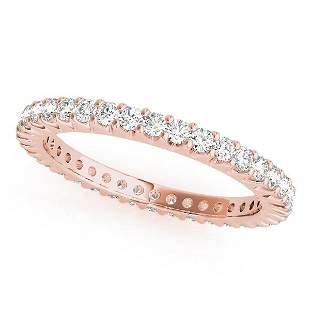 0.92 Carat Diamond Engagement 14K Rose Gold Eternity
