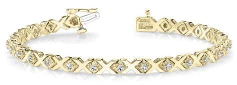 0.91 Carat Diamond Engagement 14K Yellow Gold Bracelet