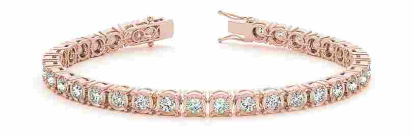 1.60 Carat Diamond Engagement 14K Rose Gold Bracelet