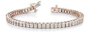 6.02 Carat Diamond Engagement 14K Rose Gold Bracelet