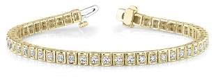 2.09 Carat Diamond Engagement 14K Yellow Gold Bracelet