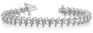 5 Carat Diamond Engagement 14K White Gold Bracelet
