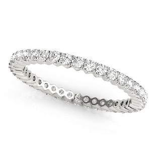 0.26 Carat Diamond Engagement 14K White Gold Eternity