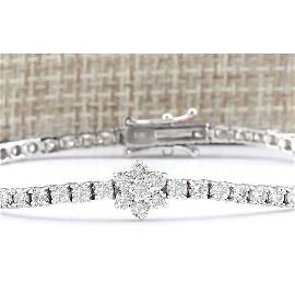 4.00 CTW Natural Diamond Bracelet In 14k Solid White