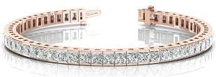 24.32 Carat Diamond Engagement 14K Rose Gold Bracelet