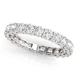 0.96 Carat Diamond Engagement 14K White Gold Eternity
