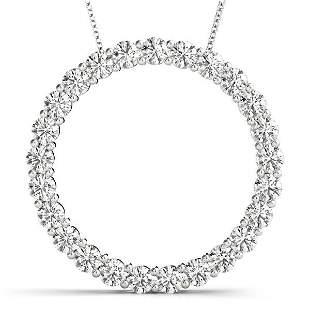 1.52 Carat Diamond Engagement 14K White Gold Circle