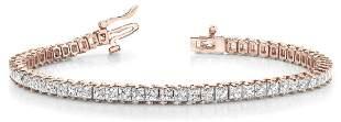 7.93 Carat Diamond Engagement 14K Rose Gold Bracelet