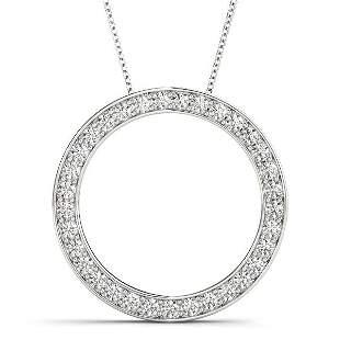 0.25 Carat Diamond Engagement 14K White Gold Circle