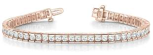 2.76 Carat Diamond Engagement 14K Rose Gold Bracelet