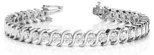4.9 Carat Diamond Engagement 14K White Gold Bracelet