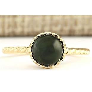 1.50 CTW Natural Green Tourmaline Ring In 14k Yellow