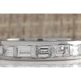 1.00 CTW Natural Diamond Ring In Platinum 950