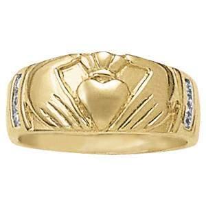 0.06 Carat Diamond Engagement 14K White Gold Religious