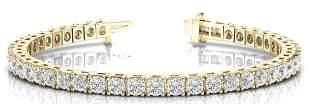 10.26 Carat Diamond Engagement 14K Yellow Gold Bracelet