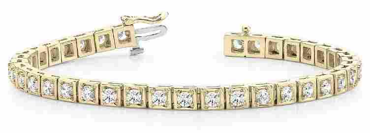 5.1 Carat Diamond Engagement 14K Yellow Gold Bracelet