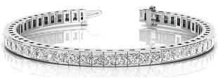 5.52 Carat Diamond Engagement 14K White Gold Bracelet