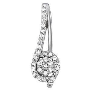 0.24 Carat Diamond Engagement 14K White Gold Cluster