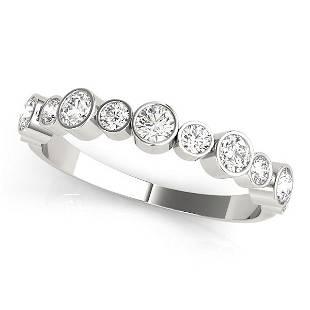 0.47 Carat Diamond Engagement 14K White Gold Stackable
