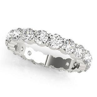 4.25 Carat Diamond Engagement 14K White Gold Eternity