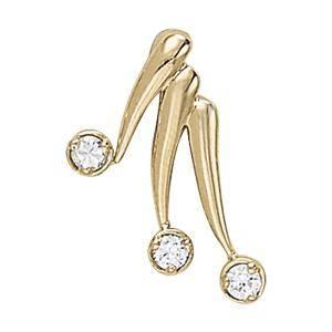 0.12 Carat Diamond Engagement 14K White Gold 3-Stone