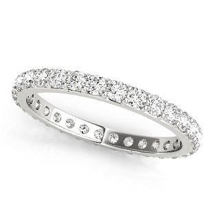 0.44 Carat Diamond Engagement 14K White Gold Eternity