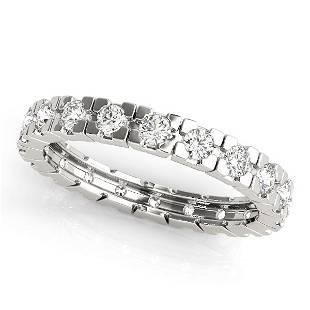 0.90 Carat Diamond Engagement 14K White Gold Eternity