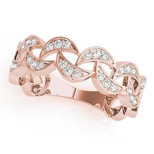 0.27 Carat Diamond Engagement 14K Rose Gold Stackable