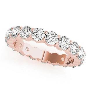 3.6 Carat Diamond Engagement 14K Rose Gold Eternity